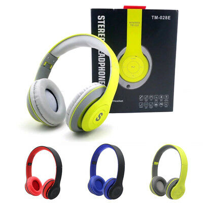 Noise Cancelling Wireless Bluetooth Headset Headphones for Smartphones iPad PC