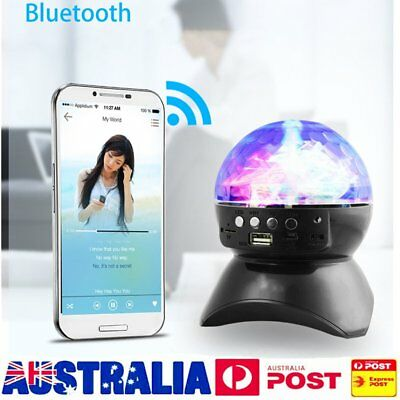 Bluetooth Smart LED Speaker FM Radio Colorful Change Light For Android iPhone GU