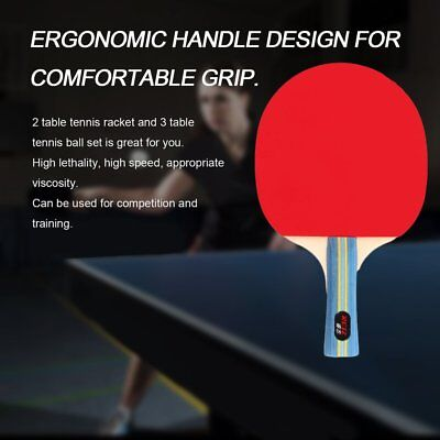 Short Or Long Handle Table Tennis Set 2 Rackets + 3 Table Tennis Balls RZ2501 GU