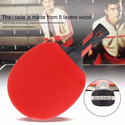 REIZ 5 Stars Table Tennis Racket Ping Pong Paddle Match Training Racket GU