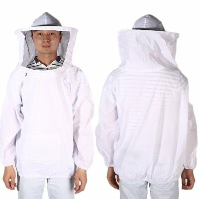 New Large Beekeeping Bee Keeping Jacket Clothes Pull Over Smock with Veil GU