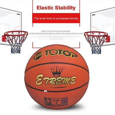 TOTOP PU Leather Basketball Official Size 7 Indoor Outdoor Basketball Ball GU