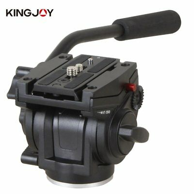 NEW KINGJOY VT-3510 Heavy Duty Video Camera Tripod Action Fluid Drag Head NP