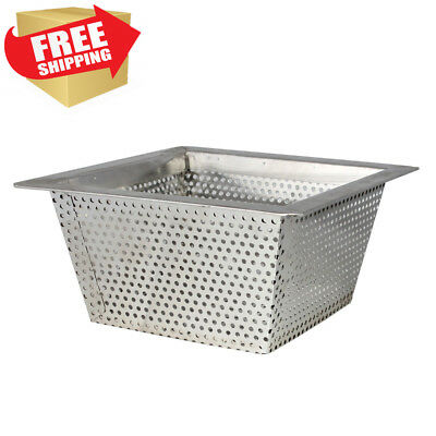 Excellante Commercial Floor Drain Strainer, 304 Stainless Steel, 0.8Mm,...