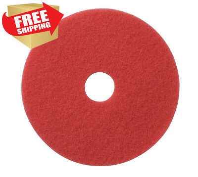 "Glit / Microtron 404413 Daily Cleaning and Buffing Pad, 13"", Red (Pack of 5)"