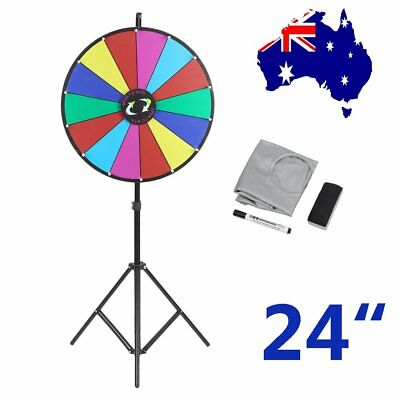 """Prize Wheel 24""""  Editable Dry Erase Color Fortune Spinning Game Floor Stand SYD"""