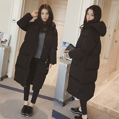 Women Warm Winter thick Parka Long Coat Hoodie Cotton Quilted Jacket Outwear GU
