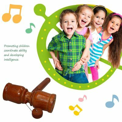 G10-0A Solid Wood Musical Instrument Nice Sound Hands Shaking Toys Child Kids GU