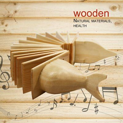 Bird Wood Musical Instrument Clear Nice Sound Hand Toys 15 Plates for Gifts GU