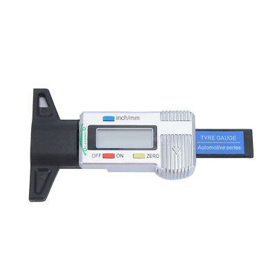 Tire Tread Depth Gauge 0-25mm Digital LCD Display Meter Auto Tyre Test Probe