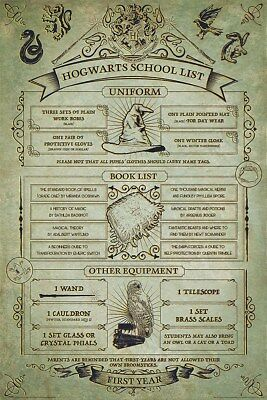 Harry Potter Maxi Poster 61 x 91,5 cm Hogwarts School List
