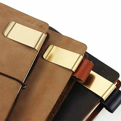 Multifunctional Handmade Metal Brass Pen Clip Holder Cash Cards Tickets Clip GU