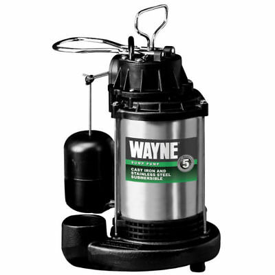Wayne CDU980E Cast Iron Submersible Sump Pump with Vertical Switch, 3/4 HP