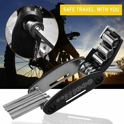 15 in 1 Multi-function Bike Cycling Chain Tyre Steel Repair Screwdriver Tool GU