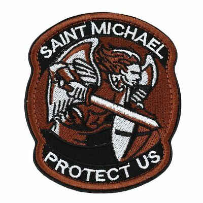 Saint Micheal Badger Military Tactical Army Morale Combat Multicam Patch GU