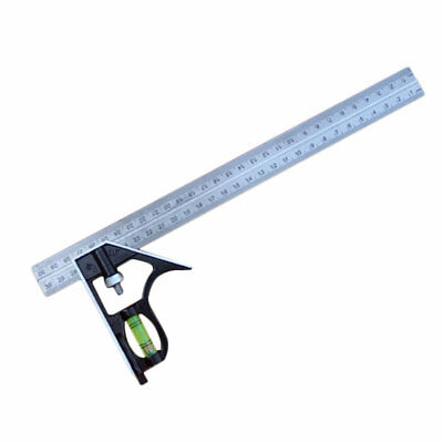 Stainless Steel Adjustable Combination Square Angle Ruler Measuring GU