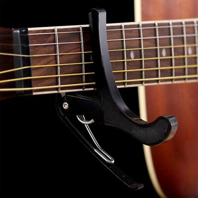 New Acoustic Electric Tune Quick Change Trigger Guitar Capo Key Clamp Black GU