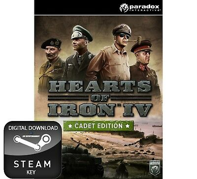 Hearts Of Iron Iv 4 Cadet Edition Pc, Mac And Linux Steam Key