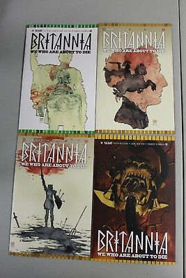 Complete Set Britannia We Who Are About to Die 1 2 3 4 2017 Valiant NM Nord Ryp