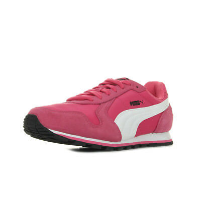 Chaussures Baskets Puma femme ST Runner NL taille Rose Cuir Lacets