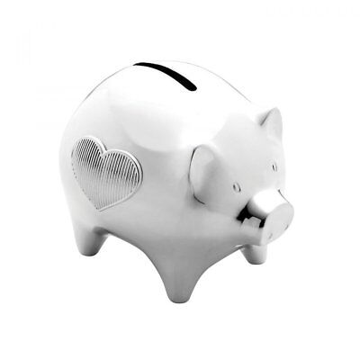 Vera Wang by Wedgwood - Baby Silver Plated Piggy Bank - Boxed Brand New