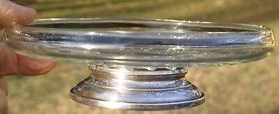 Sterling Silver Based Candy Dish Glass Bowl
