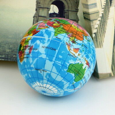 World Map Foam Earth Globe Stress Relief Bouncy Ball Atlas Geography Toy TH092 T
