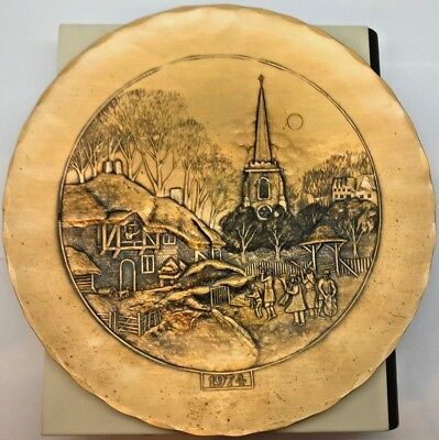 Vintage Wendell August Forge Solid Bronze 1974 First Edition Plate 7-3/4""