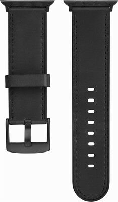 Platinum Leather Watch Strap for Apple Watch 42mm - Black (PT-AWB42PBL) - VG