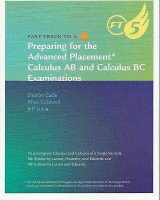 Preparing for the ap calculus ab and calculus bc examinations calculus ap fast track to 5 by ron larson and bruce h edwards 2009 fandeluxe Image collections