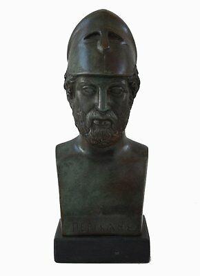 Pericles Bust with bronze color effect Ancient Greece Athens Golden Age General