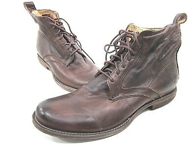 c16bcff259f57 FRYE, PHILLIP LACE Up Boot, Mens, Dark Brown, Us 7.5M, Leather, Pre ...