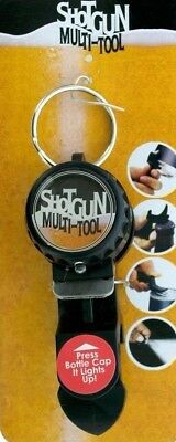 1 SHOTGUN KEYCHAIN Can BEER TOOL DRINKING GAME BOTTLE OPENER WITH LIGHT