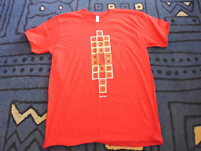 Adults Unisex Red Cotton Short Sleeve T-Shirt With Sydney Logo - Size L - New