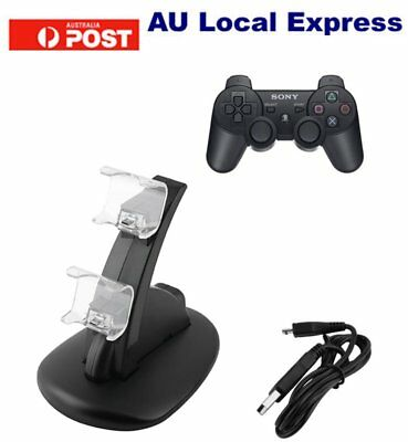 USB Dual Charger Dock Charging Stand cable F Sony PS4 playstation Controller SU