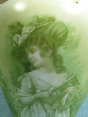 Antique Portrait Vase Gold Gild Cream Royal Bayreuth Austria Bavaria Girl