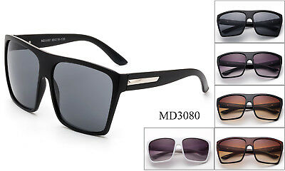 Large Oversize Square Sunglasses Flat Top Retro Classic Frame UV Protected New