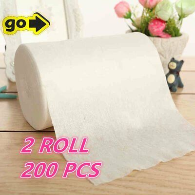 2 Roll Baby Flushable Disposable Cloth Nappy Diaper Bamboo Liners 200 Sheets C#
