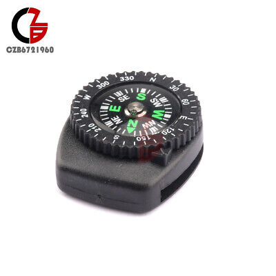 2PCS Mini Clear Liquid-filled Button Compass Clip on band Outdoor Molle Backpack