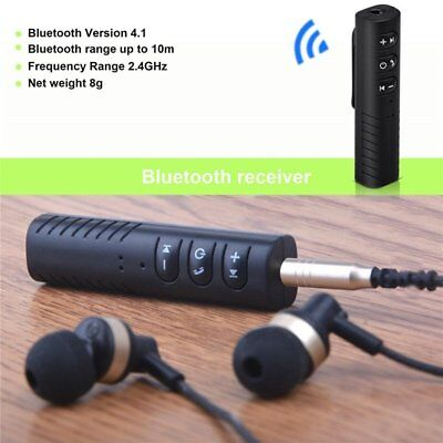 Bluetooth Wireless V4.1 3.5mm AUX Audio Stereo Music Home Car Receiver Adapter