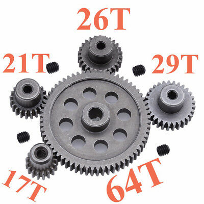 1Pc Steel Metal Spur Differential Main Gear 5MM Motor Pinion 3.17MM for HSP New