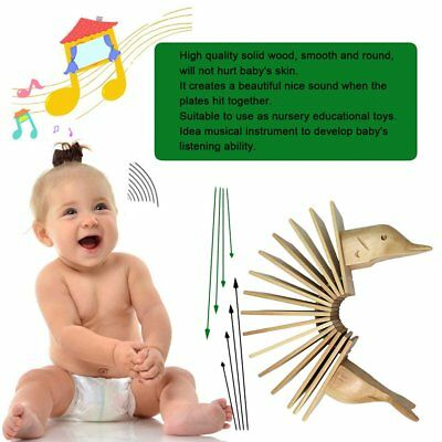 Bird Wood Musical Instrument Clear Nice Sound Hand Toys 15 Plates for Gifts AU