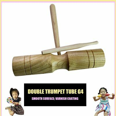 Children Wooden Dual Bells Beater Sound Percussion Early Education Instrument AU