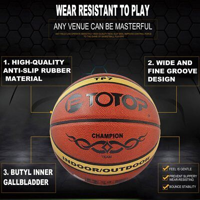 Standard Size 7 Wear-resistant PVC Basketball Indoor Outdoor Training AU