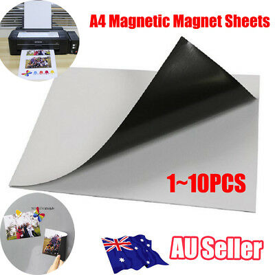 1-10x A4 0.3mm Magnetic Magnet Sheets Thickness Crafts Material ON
