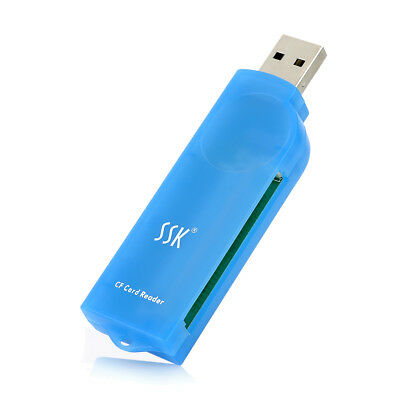 Blue Reliable High speed 64GB USB 2.0 Plastic Compact Flash CF Card Reader