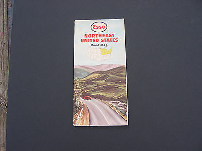 vintage road map Esso 1949 N.E. U.S.