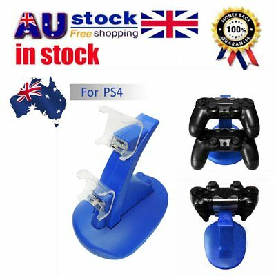 For PS4 Dual USB Charge Stand Controller Game-pad 2X Charging With Charge Line H