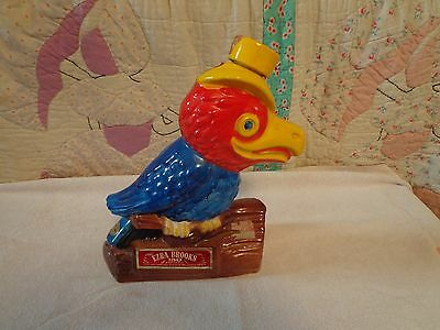 Ezra Brooks Parrot Whiskey Decanter 1969 By Heritage China