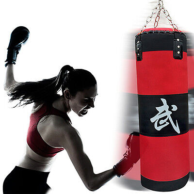 70cm Boxing Empty Punching Sand Bag with Chain Training Practice Martial CU